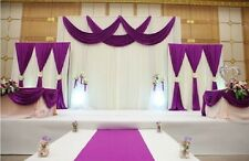 Wedding Backdrop Curtain Silk With Swags wedding stage props drapes and curtains