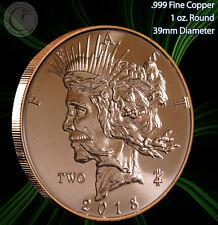 "New listing 2018 ""Feast Dollar"" 1 oz .999 Copper Round Zombucks Series"