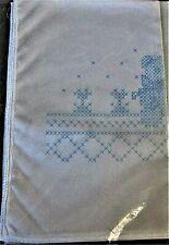 Vtg Herrschners TEDDY BEAR  Dresser Scarf Stamped Embroidery New Sealed