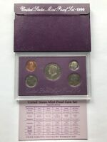 USA 1990 Proof Set San Francisco Original Box PP polierte Platte 1c-50c