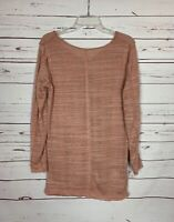 Umgee Boutique Women's Sz M Medium Salmon Long Sleeve Cute Spring Sweater Tunic