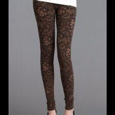 Floral Zaccardi Taupe Leggings