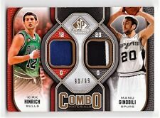 Kirk Hinrich / Manu Ginobili 2009-10 UD SP Game Used Combo Patch 90/99