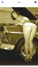 "TIN SIGN ""Sexy Mechanic"" Babe Pinup Tools Mancave Bar Garage Rustic Decor Beauty"