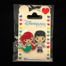 DLP Cutie Couple Little Mermaid Princess Ariel Prince Eric Cute DLRP Disney Pin