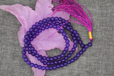 6mm stone Buddhist Amethyst purple 108 Prayer Beads Mala Bracelet Necklace 21857