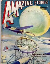 GLOSSY Bedsheet-size Oct 1932 Pulp Mag 25c AMAZING STORIES 'Scientific Fiction'