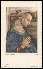 "santino-holy card""""ediz. NB serie ARTE  n.12 MADONNA"