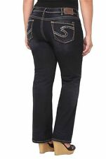 SILVER JEANS SALE Low Rise Lola Thick Stitching Straight Dark Jean Plus 16 X 32