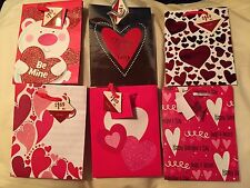 Set Of 6 Cute Valentine's Day Gift Bags