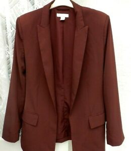 ( Ref 4614 ) H & M Euro 42 UK 12 14 Burgundy Long Sleeve Formal / Evening Jacket