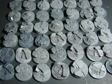 32 mm Gothic Rubble Block Bases lot of 50 New Space Marine Size