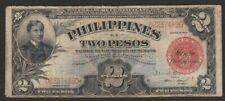 1936 PHILIPPINES 2 PESO NOTE