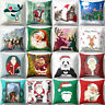LN_ EG_ Merry Christmas Santa Sofa Car Throw Cushion Pillow Cover Case Home De