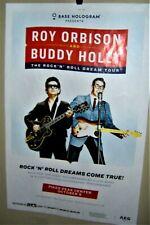Roy Orbison & Buddy Holly Hologram Concert Show Poster Denver Co 10-9-2019 Cool