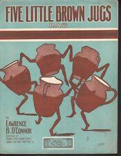 Five Little Brown Jugs Rag 1909 Large Format Sheet Music