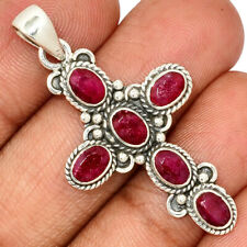 Ruby 925 Sterling Silver Pendant Jewelry AP175816 206M