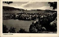 Saalburg an der Saale Thüringen alte DDR s/w Postkarte ~1950/60 Gesamtansicht