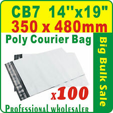 "100 x CB7 350X480mm(14''X19"") Courier Bag Poly Mailer Satchel Free Postage"