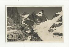 cartolina formato piccolo gruppo di brenta rifugio tuckett con passo 1926