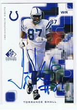 Torrance Small Football Autograph Indianapolis Colts Alcorn State Braves 1999 SP