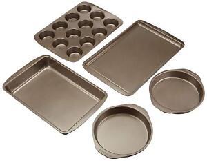 5Pc Baker's Secret Essential Baking Set Premium Non-Stick Bakeware Cake Pans