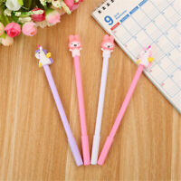 6Pcs Cute Kawaii Colourful Horse Rabbit Gel Ink Roller Ball Point Pen School Kid