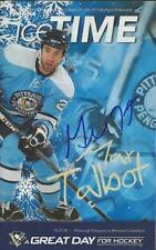Max Talbot Signed 12/27/2008 Pittsburgh Penguins Icetime Program