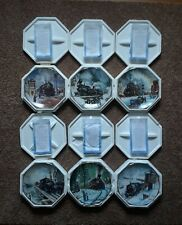 #1Hamilton1992-93 Winter Rails Ted Xaras 6 Collectable Railroad Train Plates Coa