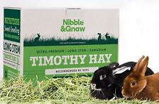 Premium health enhancing Timothy Hay for Rabbits - 1st Cut - Nibble and Gnaw
