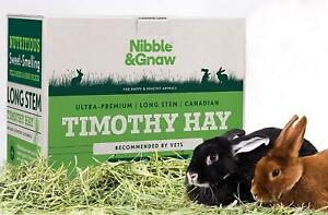Premium Timothy Hay for Rabbits - 2nd Cut - Health enhancing - Nibble & Gnaw