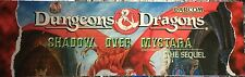"""Dungeons and Dragons Shadow Over Mystara Arcade Marquee 26""""x8"""""""