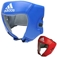 adidas Boxing Competition Leather Headguard - 2 Colors! - AIBAH1-NST
