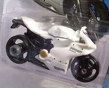 2014 Hot Wheels 36/250.WHITE Ducati 1199 Panigale Motorcycle. NEW in Package!
