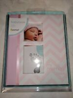 Pearhead First 5 Years Chevron Baby Memory Book With Clean Touch Baby Safe Ink