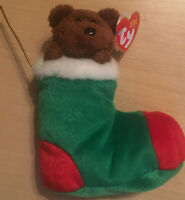Ty Beanie Babies 2003 Stockings the Bear With Tags and Error