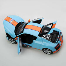 Audi R8 Gulf diecast with Opening Feature KYOSHO MODEL 1/18 #09213GF