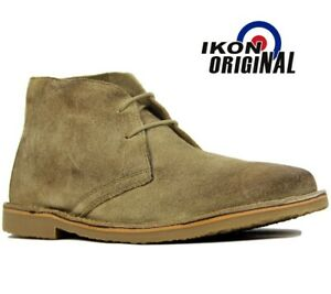 IKON Mens Suede Leather Ankle Boots Shoes New Formal Casual Desert UK Sizes 7-12