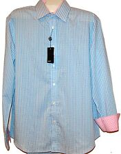 Quieti Blue  Pink Plaids  Fancywork Men  Shirt Size XL NEW