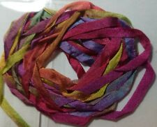 Stef Francis Hand Dyed Variegated 4mm Silk Ribbon - No SR4-49 multicoloured