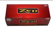 1x Box Zen Full Flavor King Size ( 250 Tubes )  Cigarette Tube Tobacco Red