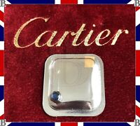 Genuine Cartier Santos Small Crown Steel & Blue Sapphire 4.3 mm VC070187 (PM)