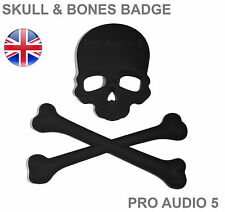 Crâne & Cross Os black car badge-boot corps-VOITURE FOURGON 4X4 Pirate-UK