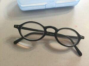 Calabria Splash Designer Reading Glasses 3.00 Round Black