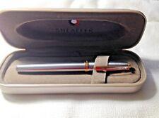 Sheaffer Prelude Chrome Ballpoint Pen With Golden Trims In Box