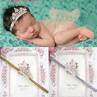 New StyleBaby Pearl Crown baby headbands girls' Princess Tiara photography props