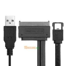 15+7 Pin 2.5inch SATA HDD to eSATA Data USB Powered Converter Adapter Cable 50cm
