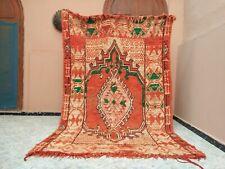 "Handmade Vintage Moroccan Rug,5'34""x8'46""ft,Berber Moroccan Boujad Orange Carpet"