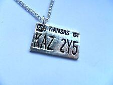 Supernatural Car Number Plate KAZ 2Y5 Pendant Dean Winchester Necklace