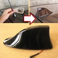 Replacement Car Roof Shark Fin Style Aerial Active Radio Antenna Universal Black